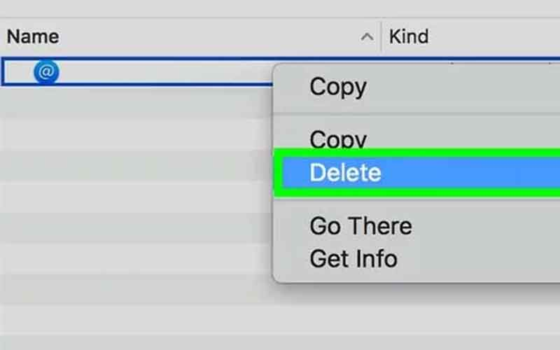 chọn delete