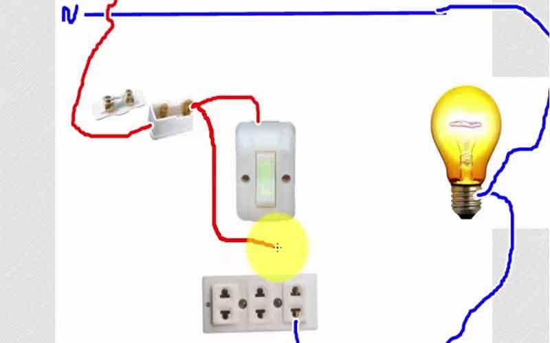 Cách lắp bảng điện 1 cầu chì 1 công tắc 1 ổ cắm