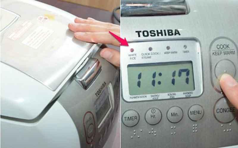 Cách sử dụng nồi com điện Toshiba