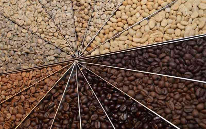 những hạt cà phê