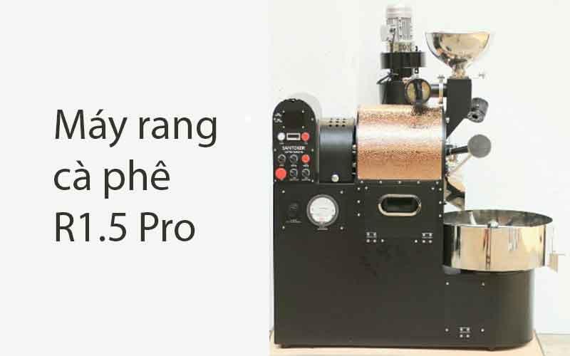 máy rang cà phê bằng điện r1.5 pro