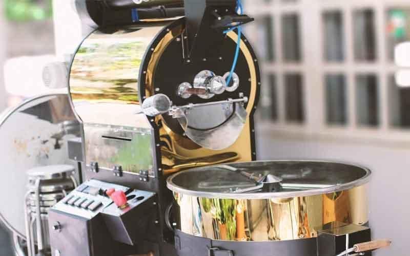 Máy rang cà phê bằng điện
