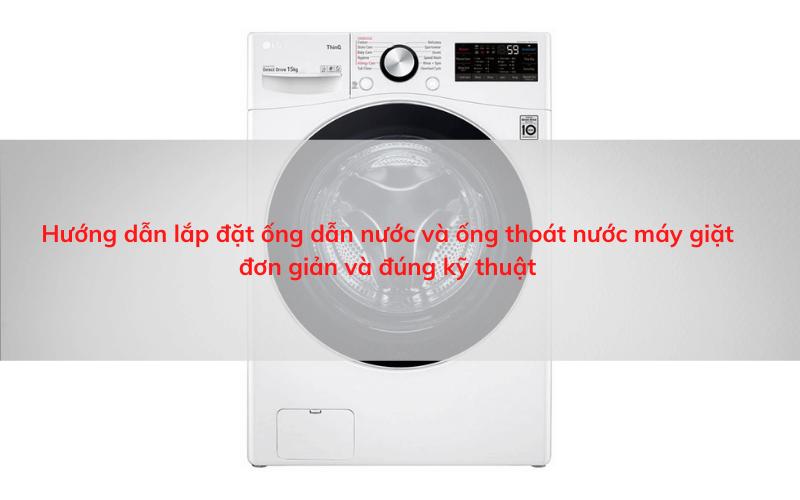 cách lắp ống nước máy giặt